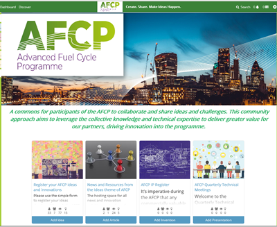 A screenshot of AFCP's Co-Creation Community website.