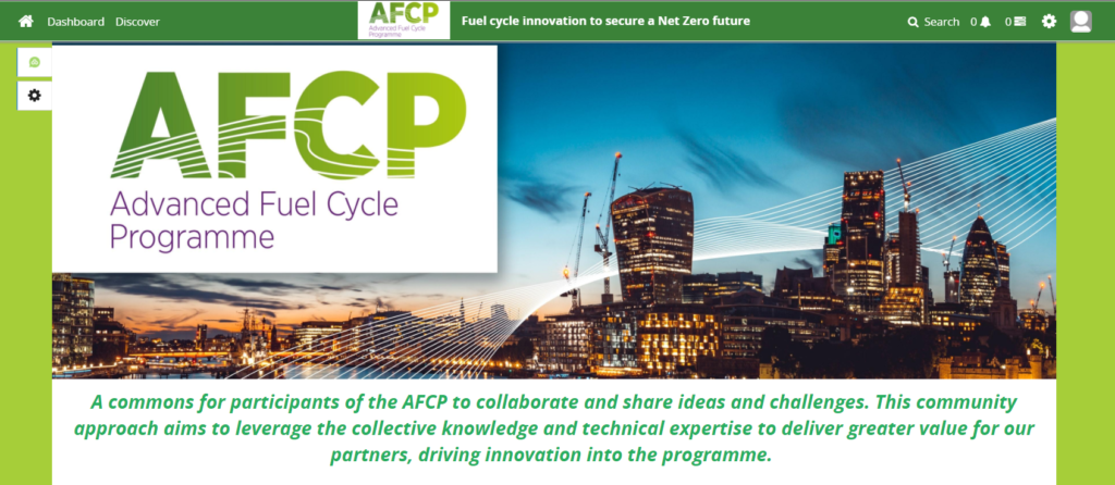Screenshot of AFCP's innovation hub, the Co-Creation Community, where AFCP members can submit their Game Changers challenge ideas.