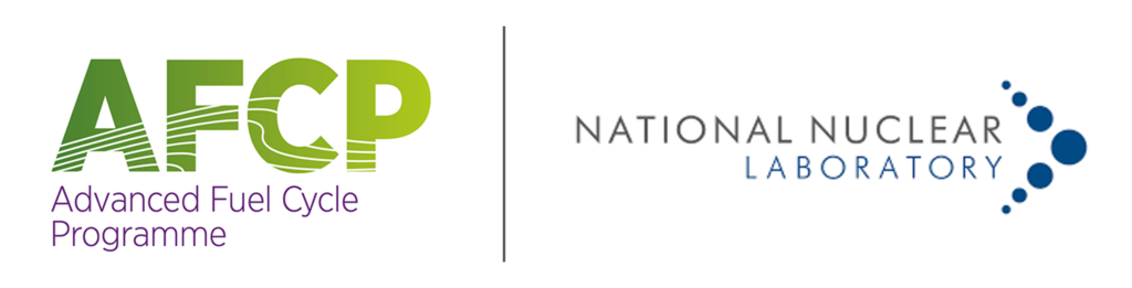 Logos for the Advanced Fuel Cycle Programme and National Nuclear Laboratory