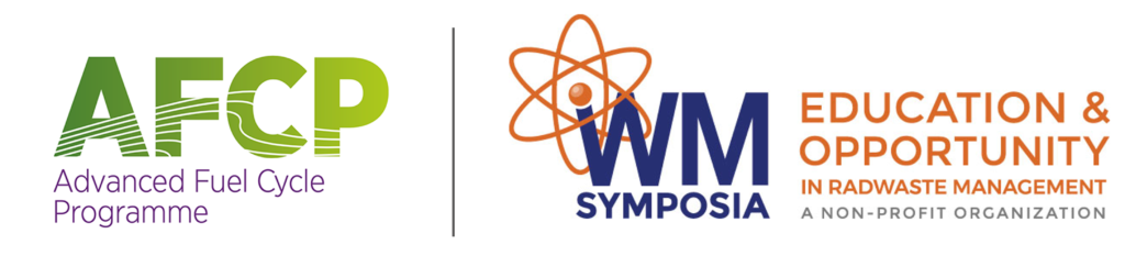 Advanced Fuel Cycle Programme (AFCP) and Waste Management Symposia (WMS) logos