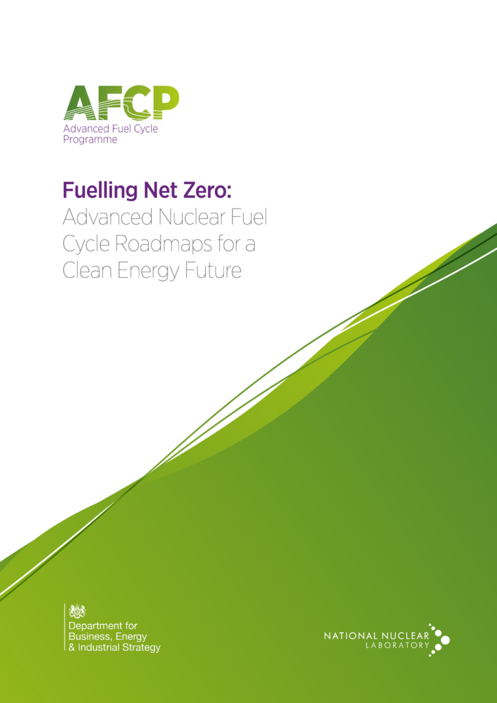 Cover page of AFCP's roadmapping report, Fuelling Net Zero: Advanced Nuclear Fuel Cycle Roadmaps for a Clean Energy Future
