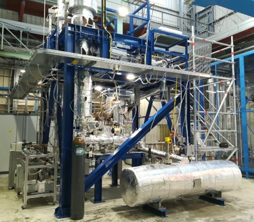 Photograph of ENEA's Liquid Loop Facility, showing metal machinery.