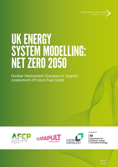 Front cover of NNL's UK Energy System Modelling: Net Zero 2050 report